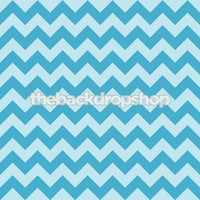 Turquoise Blue Zig Zag Photography Background - Chevron Pattern Photo Backdrop - Item 1184