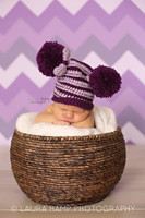 Purple Chevron Zig Zag Photography Backdrop -  Photo Background - Newborn Girl Photo Prop - Item 1208
