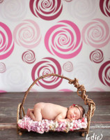 Abstract Pink Floral Photo Backdrop - Photography Background for Studios - Item 1220