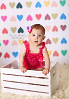 Colorful Newborn Photography Backdrop -Heart Photo Background for Pictures - Item 1222