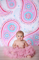 Pink & Blue Paisley Photography Backdrop - Item 1237