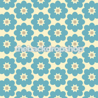 Blue Flower Print Wallpaper Photo Background for Babies - Item 1256