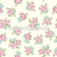 Shabby Flower Wallpaper Backdrop for Photography - Rose Print Photo Background - Item 1274