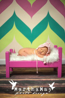 Pastel Chevron Print Photography Backdrop  - Item 1276
