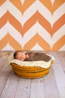 Orange Chevron Pattern Photo Background -  Chevron Photography Backdrop - Item 1286