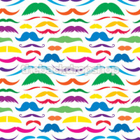 Mustache Photography Prop - Silly Photo Backdrop - Cheap Studio Photography Background - Multicolor  - Item 1300