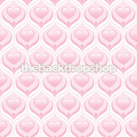 Newborn Girl Photo Prop - Pink Heart Photography Backdrop -  Photographer's Background - Item 1310
