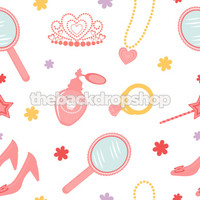 Pink Princess Photography Backdrop - Fun Kid's Photo Prop - Back Drop Background - Item 1370