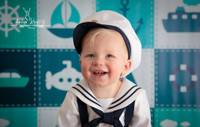 Nautical Ocean Theme Photography Backdrop - Sailing Sailboat Backdrop - Photo Backdrop for Boys - Item 1387