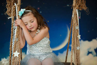 Starry Sky and Moon Backdrop for Photos - Night Sky Photography Back Drop - Item 1415
