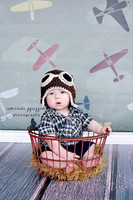 Airplane Theme Photo Backdrop for Kids Photo Shoots -  Photography Back Drop - Item 1437
