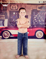 Vintage Car Photography Backdrop - Gas Station Backdrop for Photos -  Photo Background - Item 1440