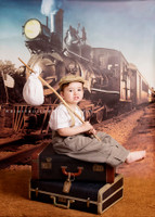 Fun Train theme Photography Backdrop - Item 1465