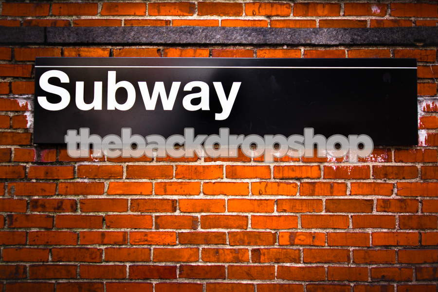 New York Backdrop for Photography -Subway Photo Background