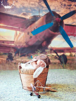 Airplane Photography Backdrop - Couples Photography Backdrop or Kids Photo Prop - Item 1590