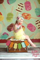 Ice Cream Photography Backdrop - Fun Kid's Photo Backdrop - Item 1599