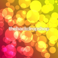 Pink Orange Yellow and Green Glitter Lights Photo Backdrop  - Item 1611