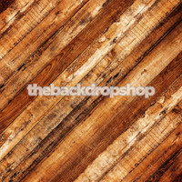 Rustic Wood Plank Floor Backdrop - Brown Wood Floor Drop for Photography - Item 1615