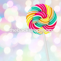 Lollipop Candy and Bokeh Photography Backdrop - Glittering Lights Photo Drop - Item 1625