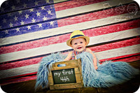 American Flag Painted on Wood Patriotic Photography Backdrop - Item 1640