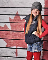 Canada Flag Photography Backdrop - Maple Leaf Canadian Flag - Flag of Canada - Item 1643