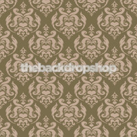 Brown Damask Photography Backdrop - Item 1661