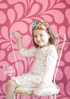 Pink Swirl Pattern Photography Backdrop for Wedding or Teen Pictures -  Photoshoot Backdrop - Item 1704