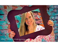 Turquoise Blue Brick Photography Backdrop - Item 1753