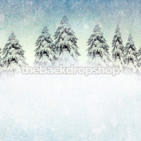 Chritmas Snow Scene Photography Backdrop - Item 1766