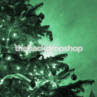 Green Christmas Tree Photo Backdrop - Item 1768