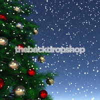 Winter Snow Holiday Photography Backdrop - Item 1792
