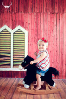 Red Barn Backdrop for Pictures  - Item 1794