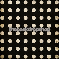 Black and Antiqued White Polka Dot Photography Backdrop - Black & Antiqued White Photo Drop - Item 1795