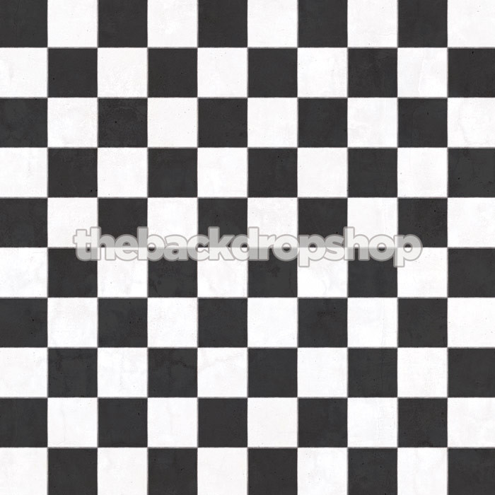 Black And White Tile Floor Drop For Photos Checkerboard
