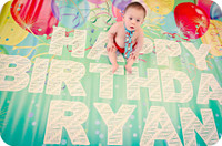 Custom Personalized Birthday Balloons Backdrop  - Item 1816