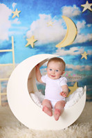 Dreamy Moon and Stars with Ladder Photography Backdrop - Item 1858