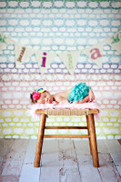 Rainbow Pastel Lace Crochet Design Backdrop - Item 2048