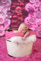 Pink Buttons Photography Backdrop - Item 2062