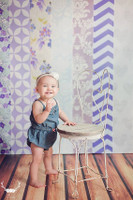 Purple Scrapbook Paper Stripe Backdrop - Item 2067