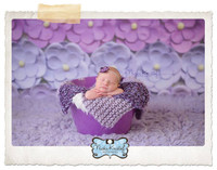 Pink and Purple Flower Photography Backdrop - Rows of Flowers Backdrop for Photos - Wall of Flowers - Exclusive Design! - Item 2084