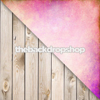 Pink Pastel Foil Effect / Whitewashed White Wood Floor - Items 1128 & 157