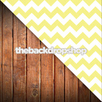 Yellow Chevron / Stained Wood Plank Floor - Items 1214 & 1111