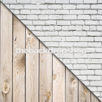 White Brick Wall / White Wood - Items 1444 & 157