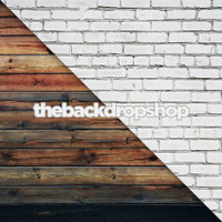 White Brick Wall / Dark Distressed Wood Floor - Items 1444 & 384