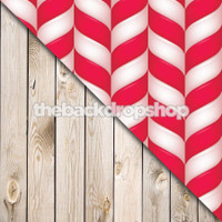 Peppermint Candy Cane / White Plank Wood Floor - Items 1782 & 157