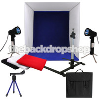 "16"" Photography Light Tent Backdrop Cube in a Box Kit - 100w Photo Studio - Photography Studio Equipment"