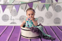 Silver Glitter Dot Backdrop - Exclusive Design - Item 2126