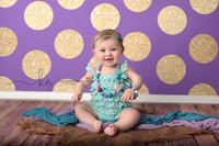 Purple and Gold Glitter Dot Backdrop - Polka Dot Photo Background - Girls Photography Back Drop - Exclusive Design - Item 2132