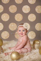 Gold Glitter Dot Backdrop - Exclusive Design - Item 2133