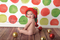 Christmas Photography Backdrop - Red and Green Dots Photo Background - Holiday Back Drop - Exclusive Design - Item 2135